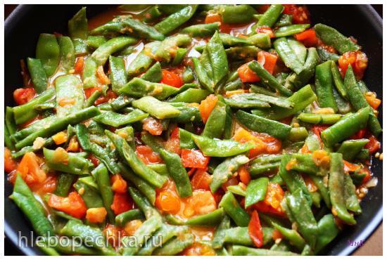 Зелёная фасоль с рисом (Fasulye Diblesi Tarifi)