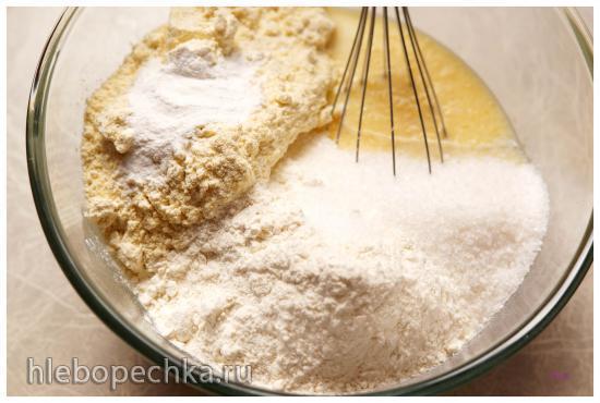 Кукурузный пирог с черникой