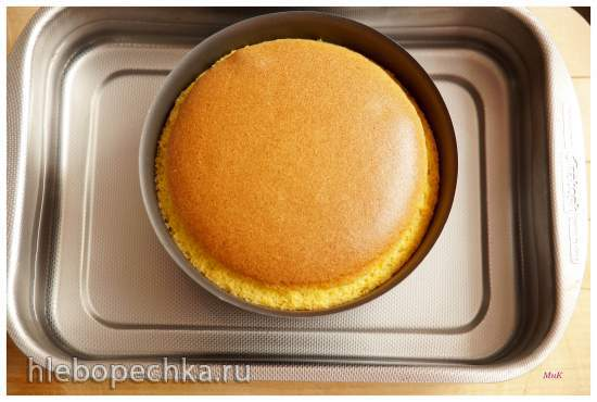 Хлопковый бисквит на тыквенном пюре