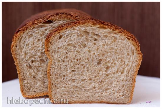 Ржаной зерновой с льняными и кунжутными зёрнами хлеб на опаре