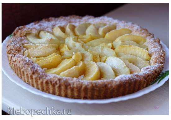 Яблочный тарт по-нормандски (Tarte aux pommes Normande)