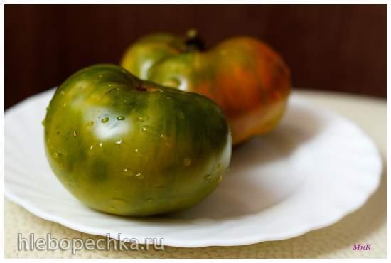 Салат из помидоров и спаржевой фасоли