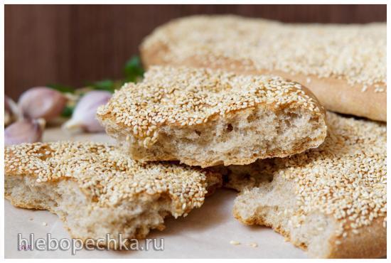 Греческий хлеб лагана (Λαγάνα)