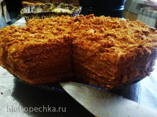 Торт «Медовик» из заварного теста