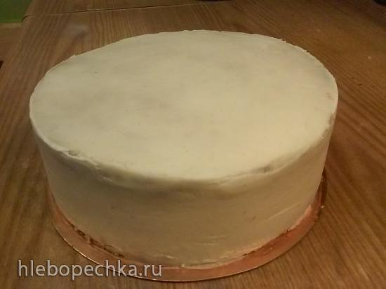 Торт с лимонно-черносмородиновой прослойкой