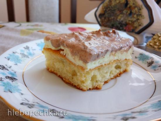Легкий творожный пирог