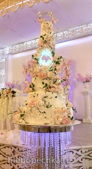 Как собрать свадебный многоярусный торт?