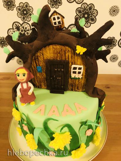 Торт домик Маши и Медведя