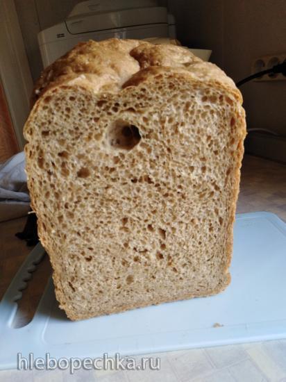 Panasonic 2501. Пшеничный хлеб из муки первого и второго сорта