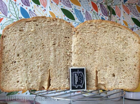 Шпилькин любимый хлеб (пшенично-ржаной, хлебопечка)