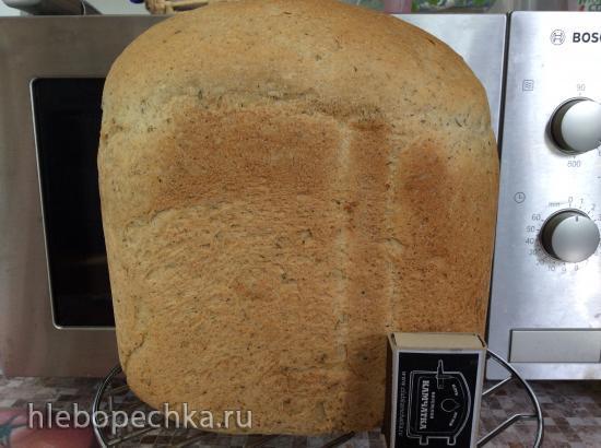 Panasonic 2512. Пшенично-ржаной хлеб с манкой на воде
