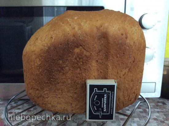 Panasonic SD-2501. Пшеничный хлеб Квасной летний с овсяными хлопьями и отрубями в хлебопечке