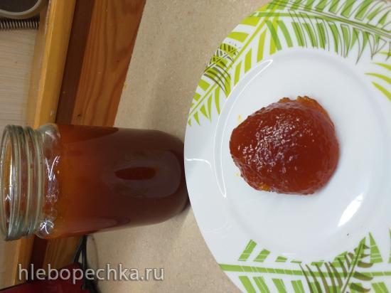 Крепкое желе из крыжовника, облепихи и красной смородины, без желирующих добавок (горячий способ)