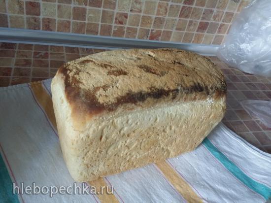 Пшеничный хлеб на опаре (хлебопечка или духовка)
