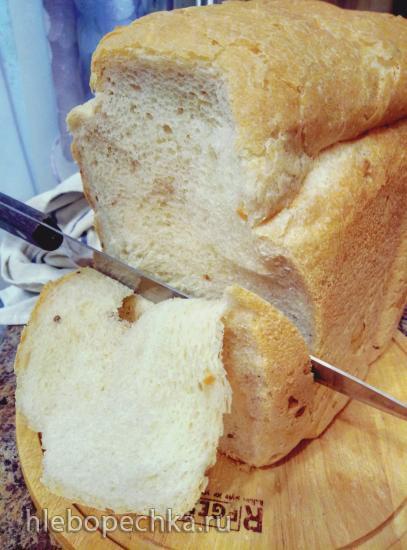 Хлеб пшеничный холодным опарным способом (хлебопечка)