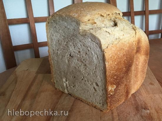 Хлеб на закваске из муки 1 сорта (в хлебопечке)