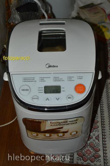 Хлебопечка Midea AHS20AC-P: печём по рецепту