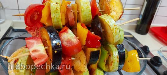 Шашлыки овощные, в Гриле Ninja (+видео)
