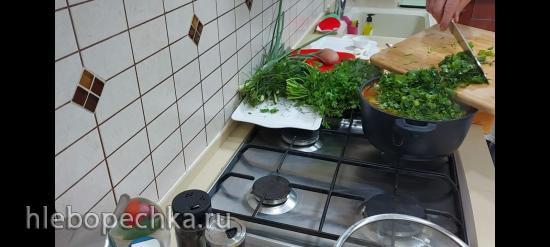 Овощной суп с различной зеленью (+видео)