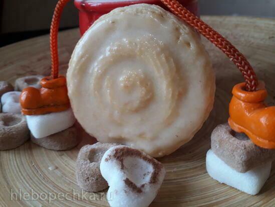 Печенье медовое с медовосливочной глазурью