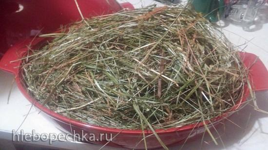 Свинина в сетке запеченная на сене