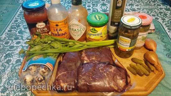 Стейк Тартар (Steak tartare) из говядины