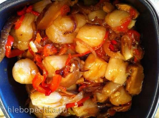 Морские гребешки с шиитаке