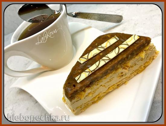 Торт без выпечки Карамельный