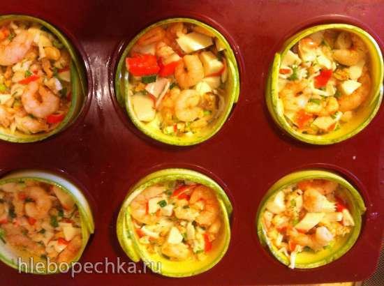 Корзинки из цукини с морепродуктами