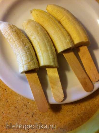 Замороженные киви и бананы в шоколаде