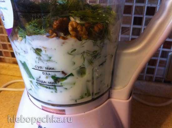 Холодный суп из черемши