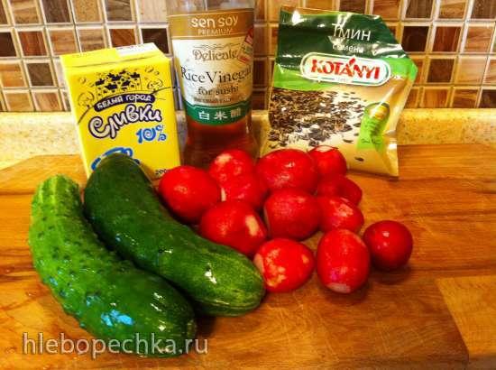 Холодный суп-пюре из редиса