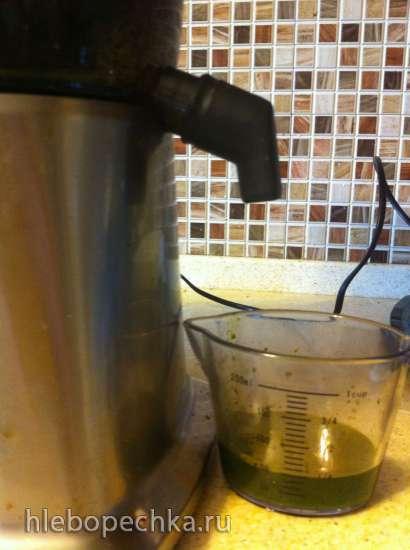 Замороженный сок из полезных сорняков