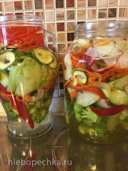 Ферментированные овощные спирали