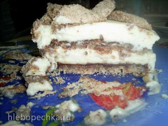 Торт орехово-лимонный (без муки)