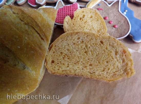 Тыквенный хлеб на закваске в духовке