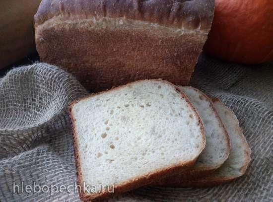 Белый тостовый хлеб на закваске (духовка)