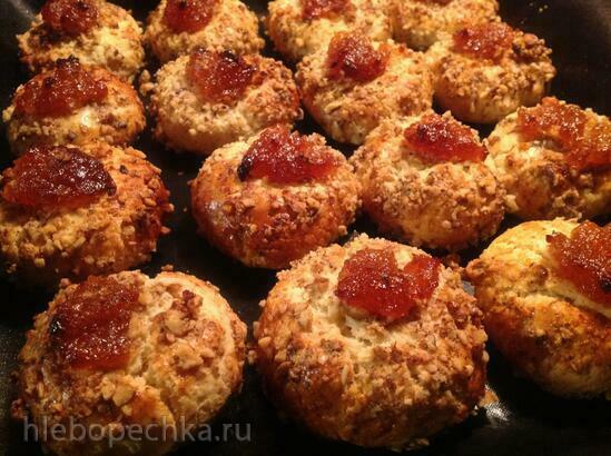 Печенье «Пухлики орехово-лимонные с джемом»