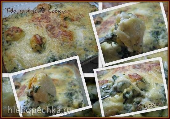Творожные ньокки с брокколи под сливочным соусом