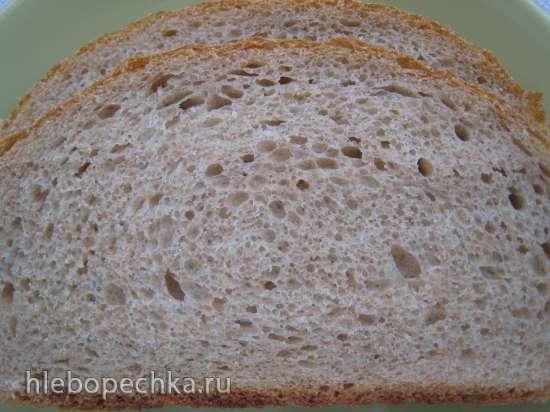Пшеничный цельнозерновой 50:50 хлеб и тесто для пиццы (Peter Reinhart)