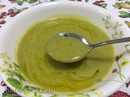 Суп-пюре из зелёного горошка и брокколи  в Zauber ECO-580