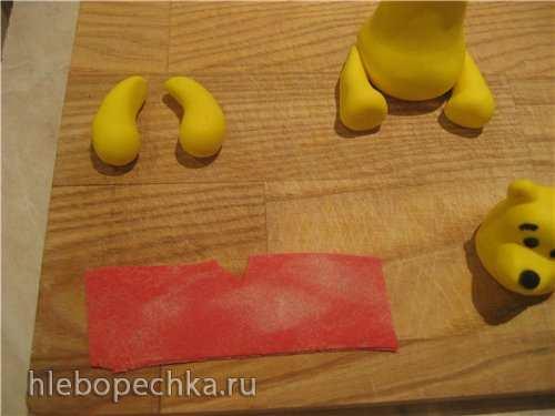 Лепка Винни-пуха из мастики (мастер-класс)