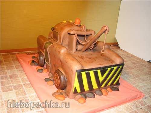 Торт «Машина Мэтр из м/ф Тачки» (мастер-класс)