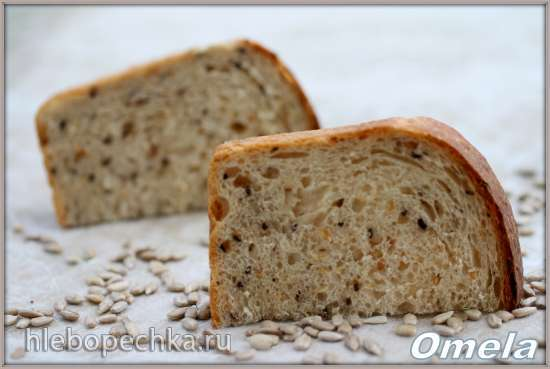 Хлеб формовой с семенами льна, подсолнечника и кунжута от Frederic Lalo