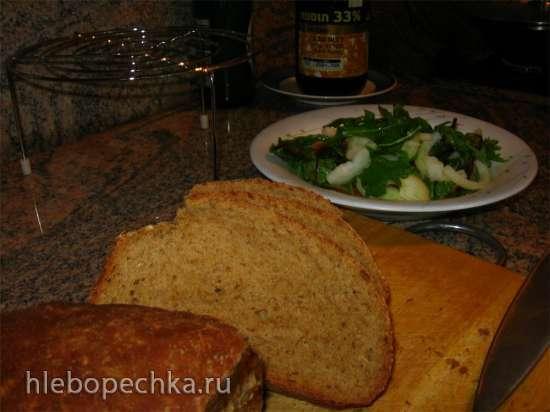 Пшенично- ржаной хлеб на пиве в хлебопечке