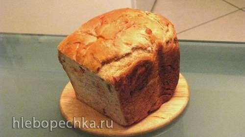 Хлеб пшеничный с орехами и сухофруктами в хлебопечке