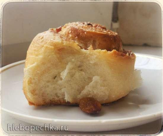 Творожные булочки с изюмом и корицей