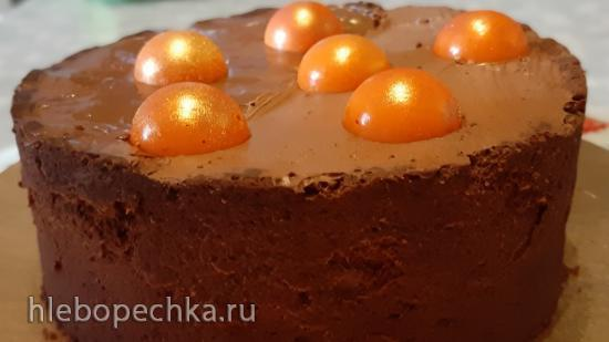 Шоколадный тарт с абрикосами и нежным муссом от Энди Шефа