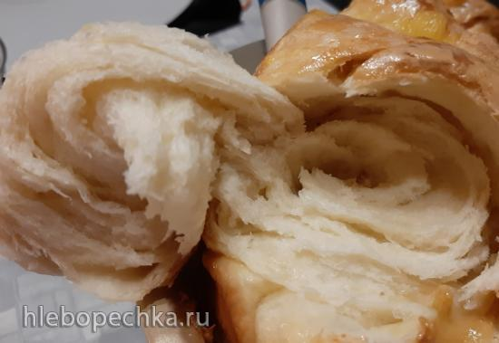 Молочный хлеб на заварке танг-жонг