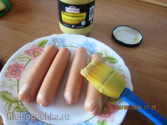 Сосиски, обжаренные в горчице